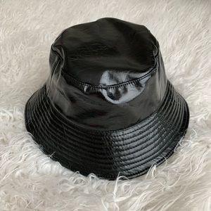 Faux Leather Bucket Hat ♡